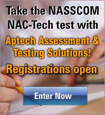 Take the NASSCOM NAC-Tech test with Aptech Assessment & Testing Solutions