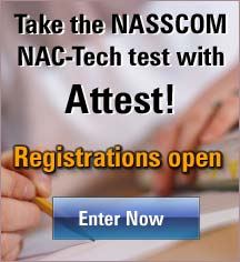Take the NASSCOM NAC-Tech test with Attest!